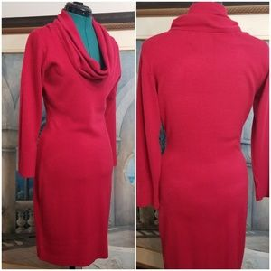 Red Sweater Dress size M